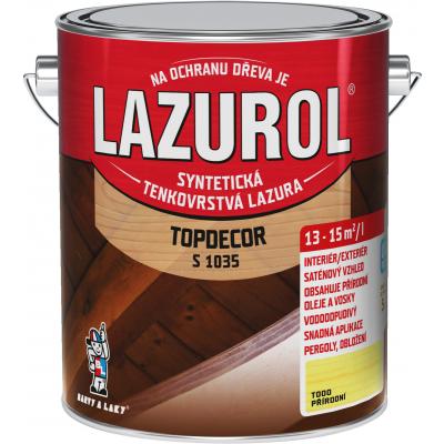 lazurol topdecor s1035 prirodni 2,5l