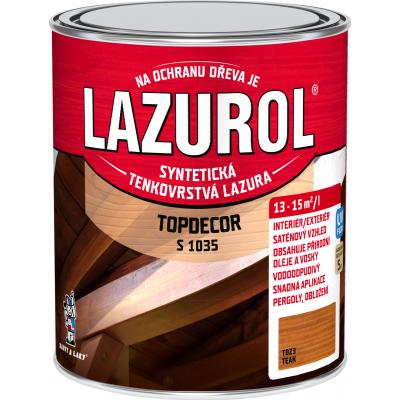 lazurol topdecor s1035 teak 0,75l