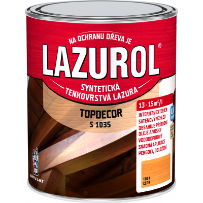 lazurol topdecor s1035 cedr 0,75l