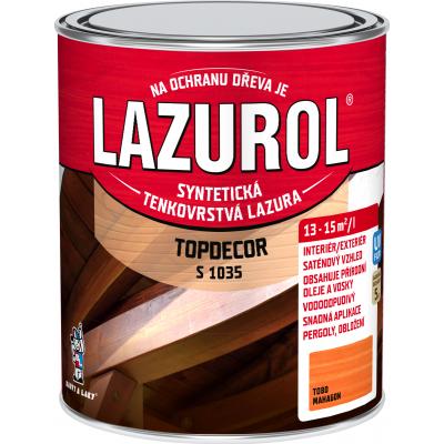lazurol topdecor s1035 mahagon 0,75l