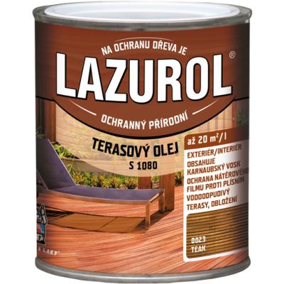 lazurol terasovy olej teak 0,75l
